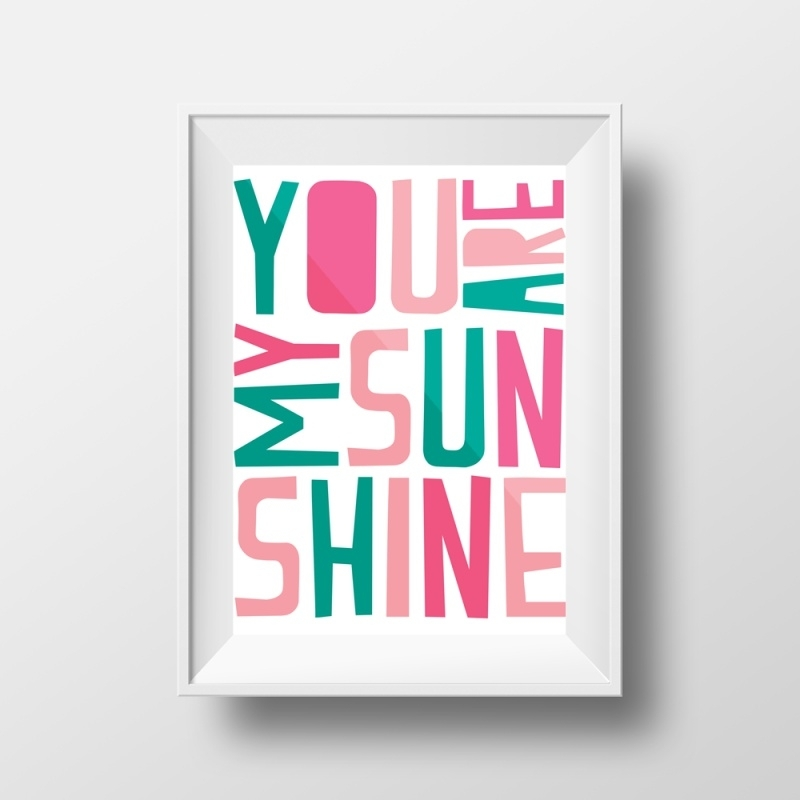 Poster kinderkamer You are my sunshine