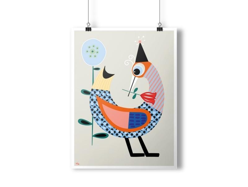 Feestvogel poster