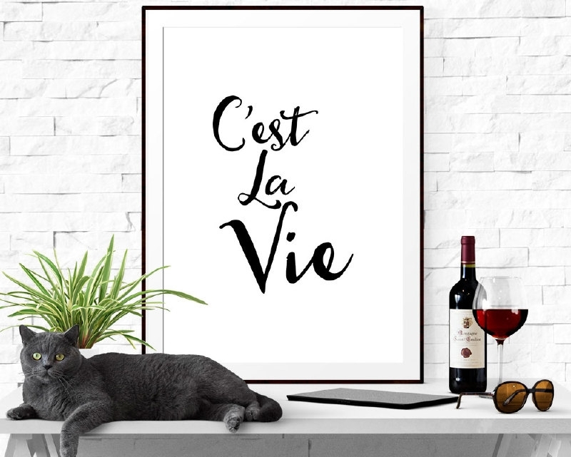 Inspiratie poster C'est La Vie