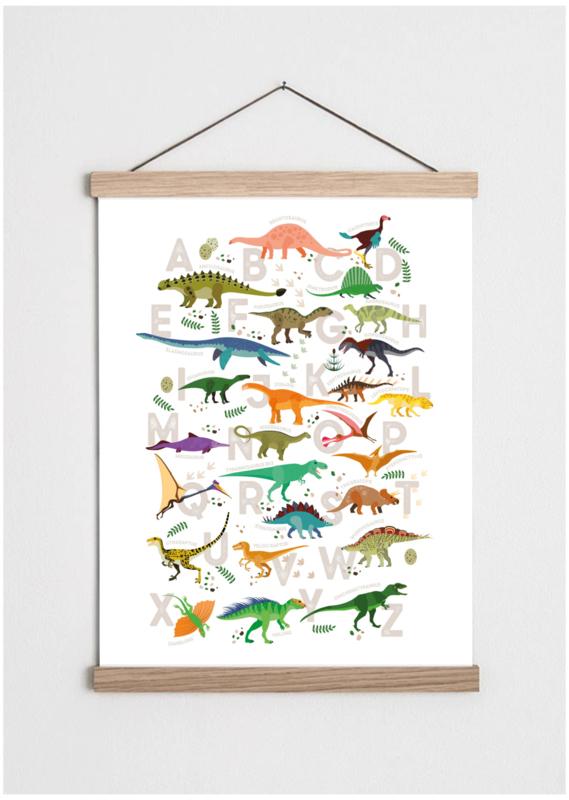 Poster met dinosaurus ABC