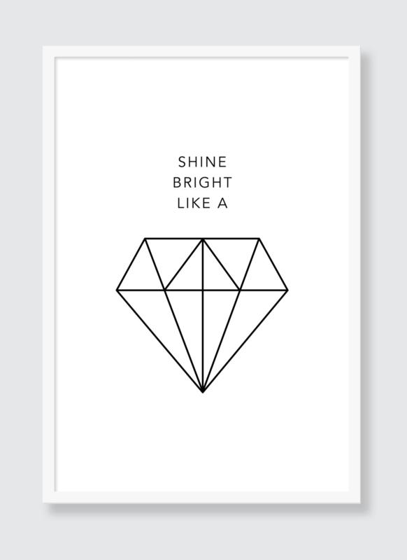 Poster Shine Bright Like a Diamond