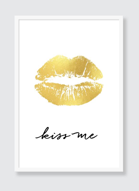 Poster Kiss me goud