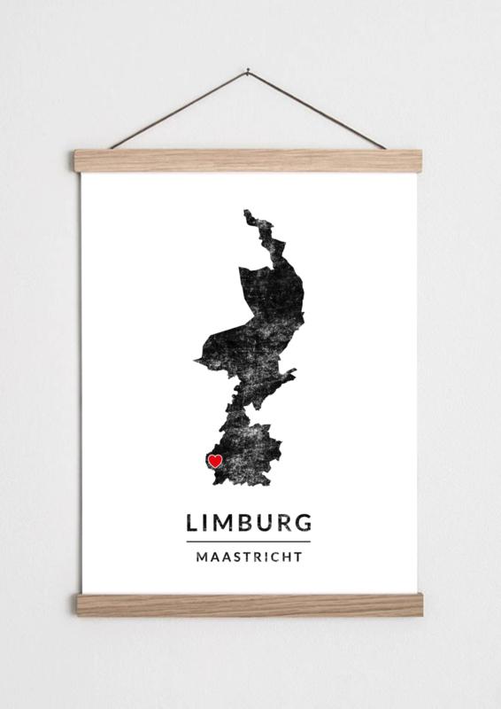 Poster plattegrond Limburg