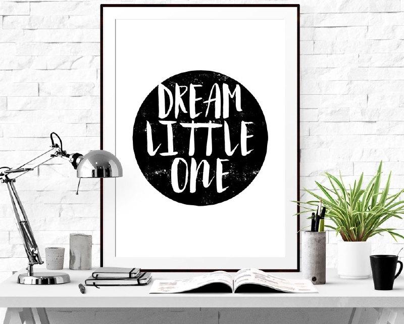 Poster met motivatie tekst Dream Little One