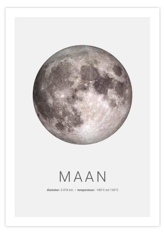 Poster van de Maan