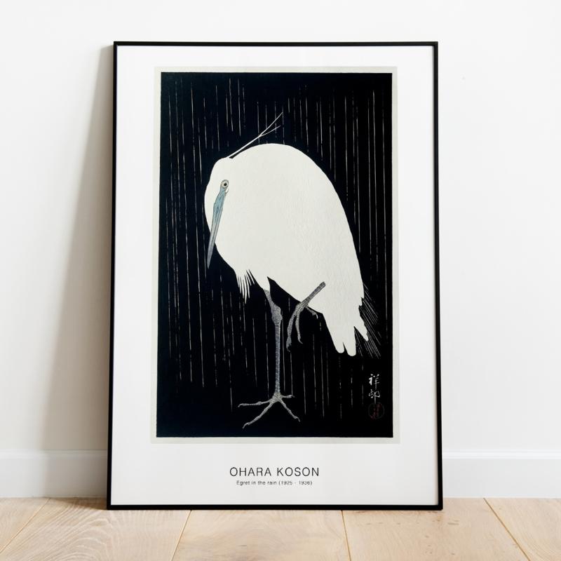 Japanse kunstposter Kraanvogel
