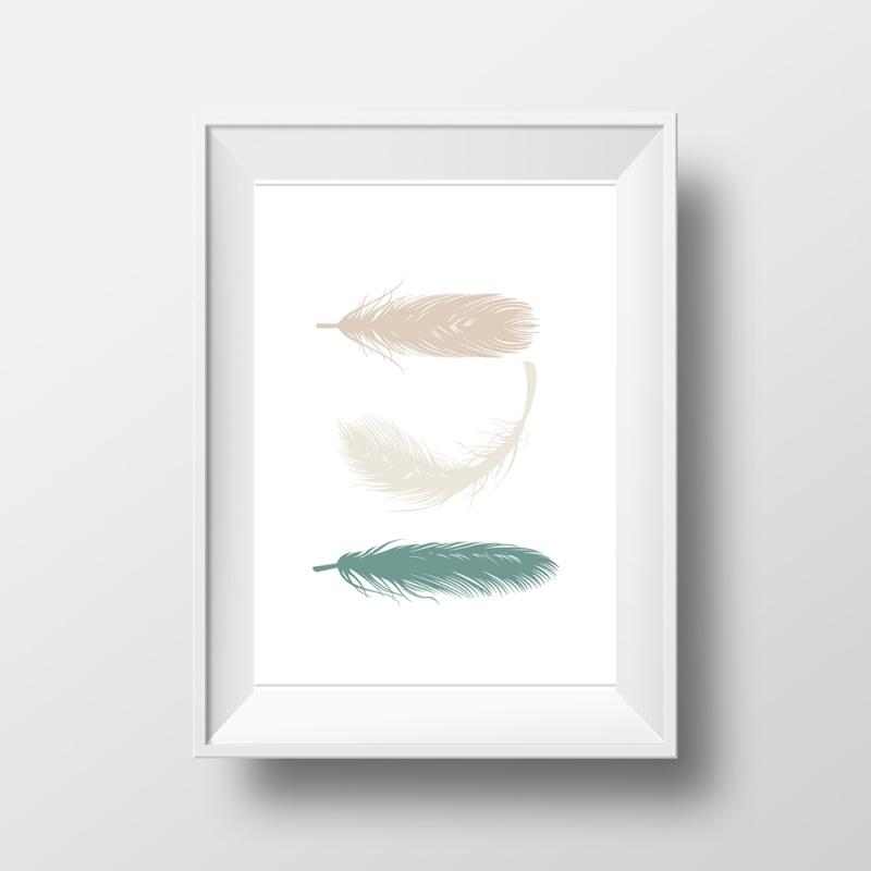 Veren taupe, grijs en groen