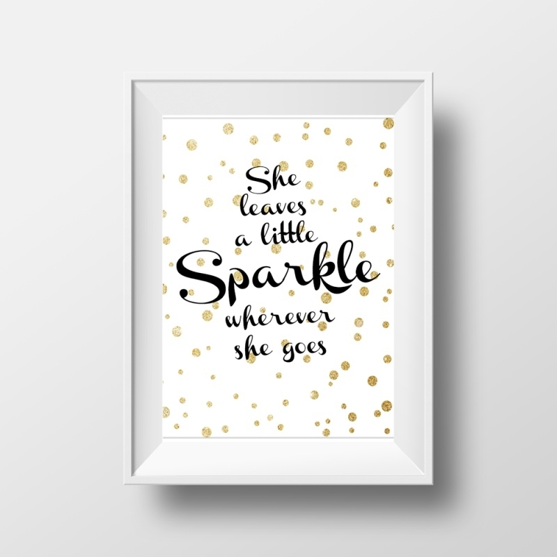 Hippe poster she leaves a sparkle