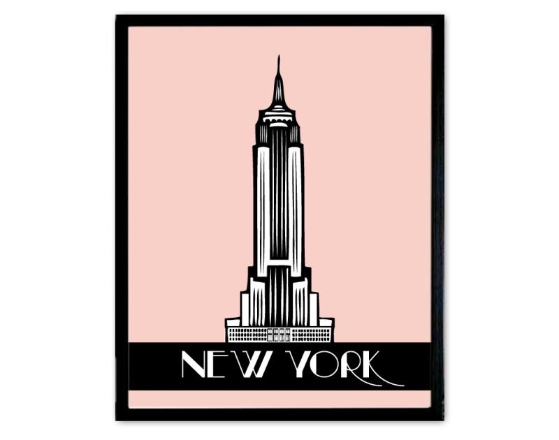 Poster art deco stijl New York
