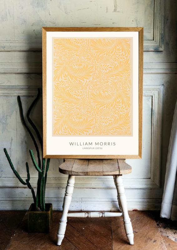 Poster William Morris - Larkspur (1876)