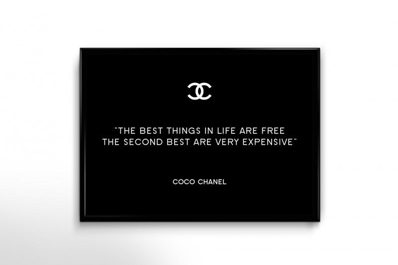 Coco Chanel Qoute poster
