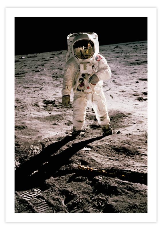 Poster van een astronaut