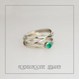 Wikkelring Smaragd Witgoud
