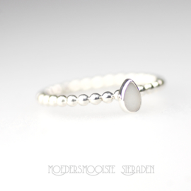 Ring Pure White Drop