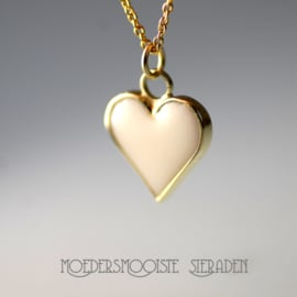 Moedermelk Collier Luxurous Heart of Pure White Milk