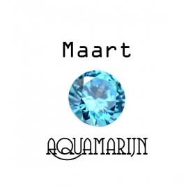 Geboortesteen Maart Aquamarijn