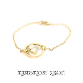 Moedermelk Armband Hart Goud