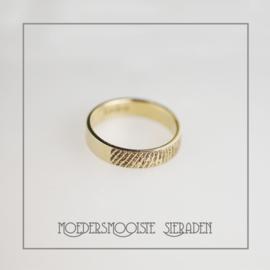 Ring vingerafdruk 14 karaat goud