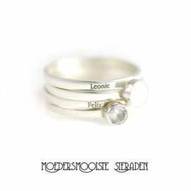 Stapelring  Sublime Zilver