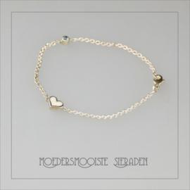 Armband Moedermelk Zilver Solid Heart