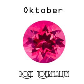 Geboortesteen Oktober Roze Toermalijn