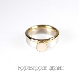 Ring Queen Design Zilver & Goud