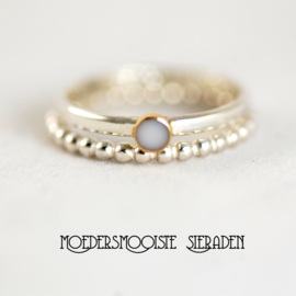 Stapelring Zilver  & Goud
