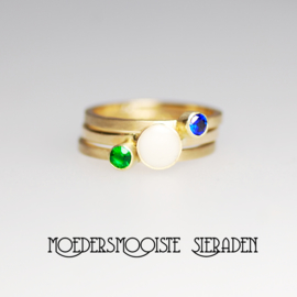 SET ring Sublime en twee geboortesteen-ringen goud