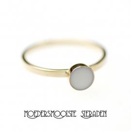 Moedermelk Ring Sublime (witgoud en geelgoud)