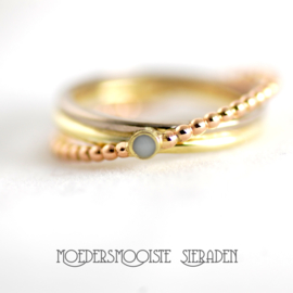 Ring Marlou Triple Colour Gold