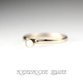 Ring Fleur witgoud