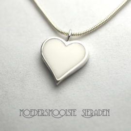 Collier Moedermelk White Heart