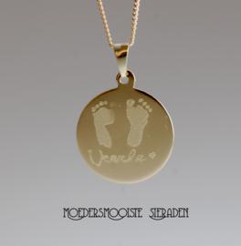 Collier Verloren Kind Goud Gravure