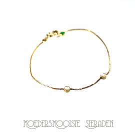 Moedermelk Armband Center Goud met geboortesteen