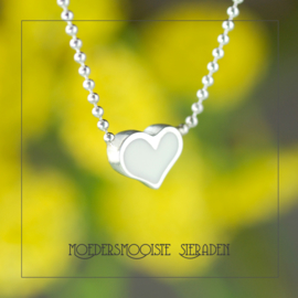 Collier Casca Solid Heart Zilver
