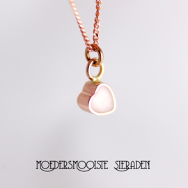 Collier Moedermelk Hart Roodgoud