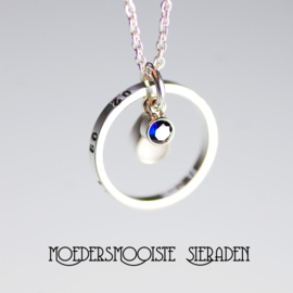 Collier Druppel Geboortesteen