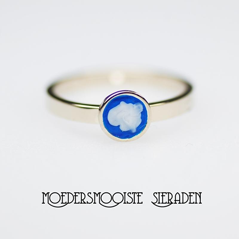 Ring Roeska Witgoud Koningsblauw