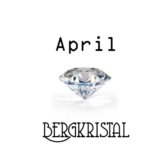 Geboortesteen April Bergkristal