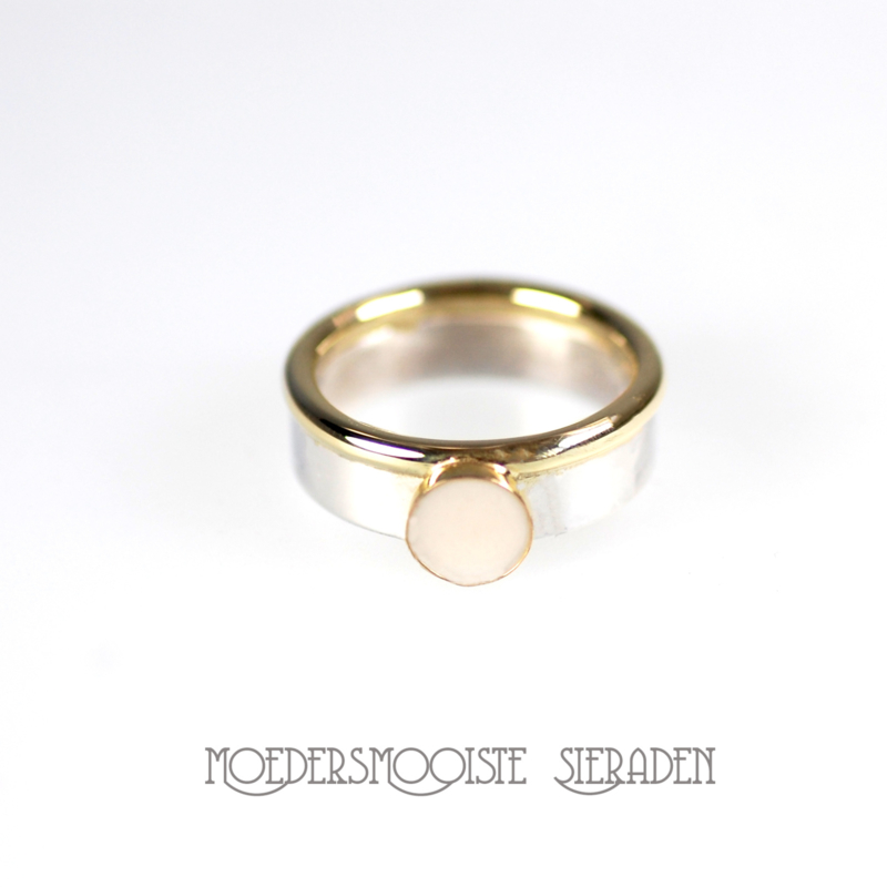 Ring Queen Design Zilver & Goud