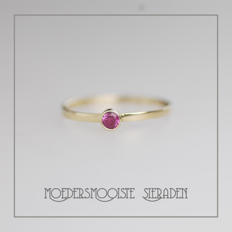 Ring Goud roze Toermalijn