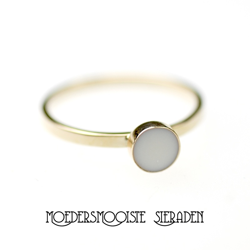 Moedermelk Ring Sublime (witgoud en geelgoud)