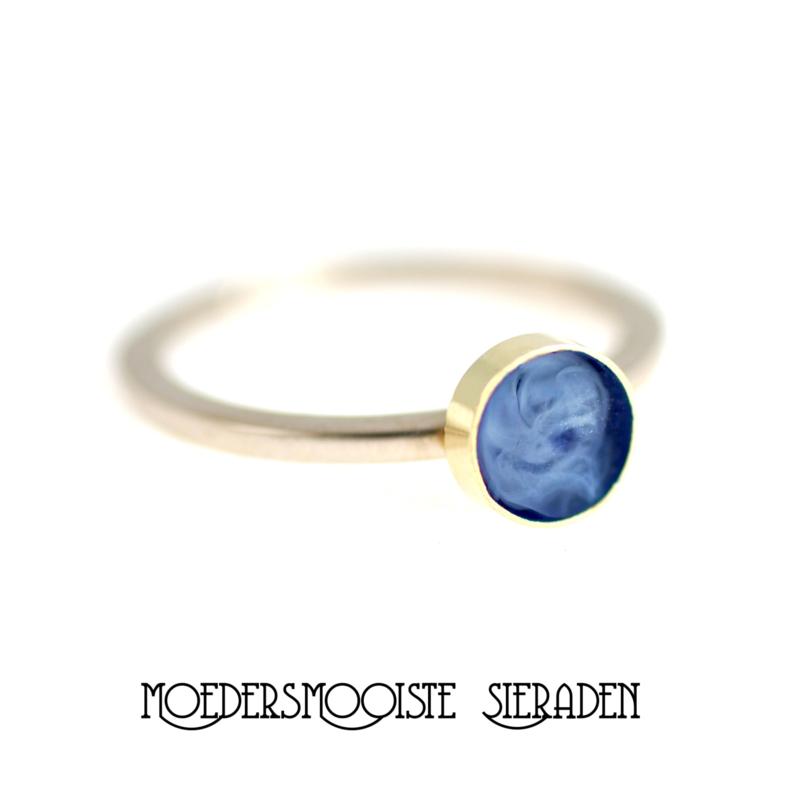Ring Sublime Witgoud met Geelgoud