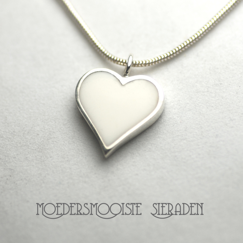 Collier Moedermelk White Heart