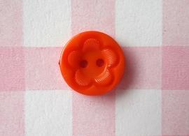 Knoop rond met bloem oranje