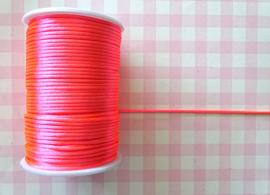 Satijnkoord 2.5 mm neonroze