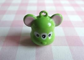 Belletje groen beestje 3 ogen