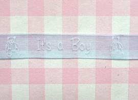Organza lint zachtblauw It's a Boy
