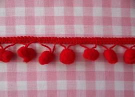 Pompom band rood