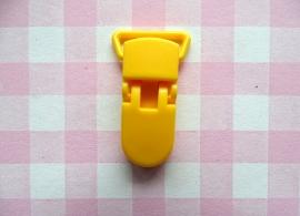 Speenclip  - bretelclip  kunststof  geel